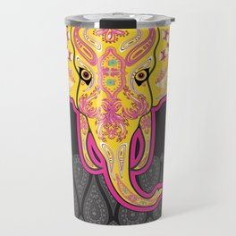Elephant skeletons with floral Ethnic patterns Travel Mug