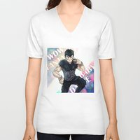 dbz V-neck T-shirts featuring + DBZ - Seungri + by MitsuBlinger