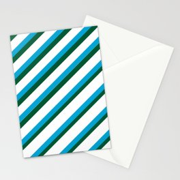 TEAM COLORS 1...LIGHT BLUE,GREEN Stationery Cards