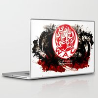 casablanca Laptop & iPad Skins featuring WAC Wydad Casablanca by Genco Demirer