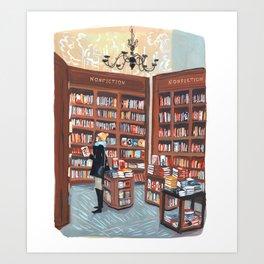 NYC Bookstore Art Print
