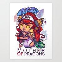Alexstrasza Mother of Dragons Art Print