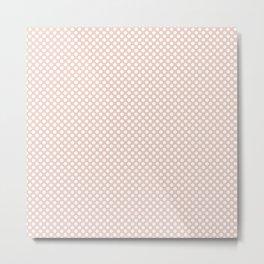 Pale Dogwood and White Polka Dots Metal Print