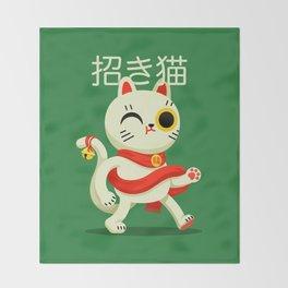 Maneki-neko Throw Blanket