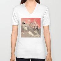 les mis V-neck T-shirts featuring Les Femmes by Ceren Kilic