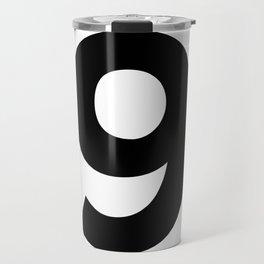 Number 9 (Black & White) Travel Mug