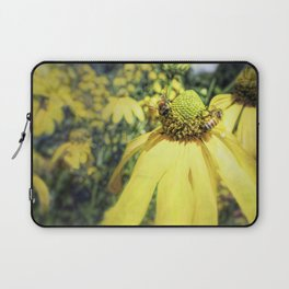 Bees on Yellow Flower Laptop Sleeve
