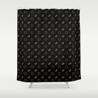 macaroons Shower Curtains featuring Macaroons (inverse) by annies
