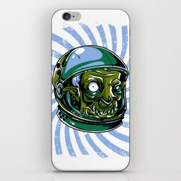 Astronaut Zombie Scary Face - I WAS TAKEN BY ALIENS iPhone Skin