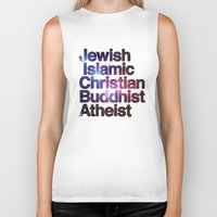 religion Biker Tanks featuring RELIGION by CHAD MIZE /// CHIZZY
