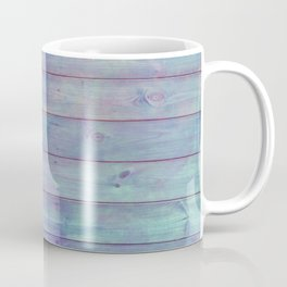 purple and green distressed stained painted wood board wall Coffee Mug