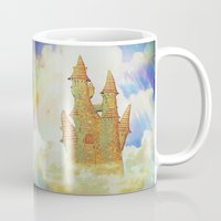 castle in the sky Mugs featuring castle in the sky by Ancello