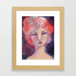 Folie by Jane Davenport Framed Art Print