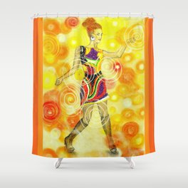 Psychedelic Dancer  Shower Curtain