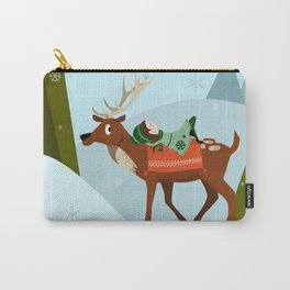 Christmas deer and elf Carry-All Pouch