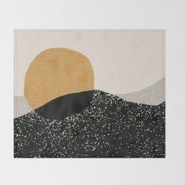 Gold Sun Going Throw Blanket