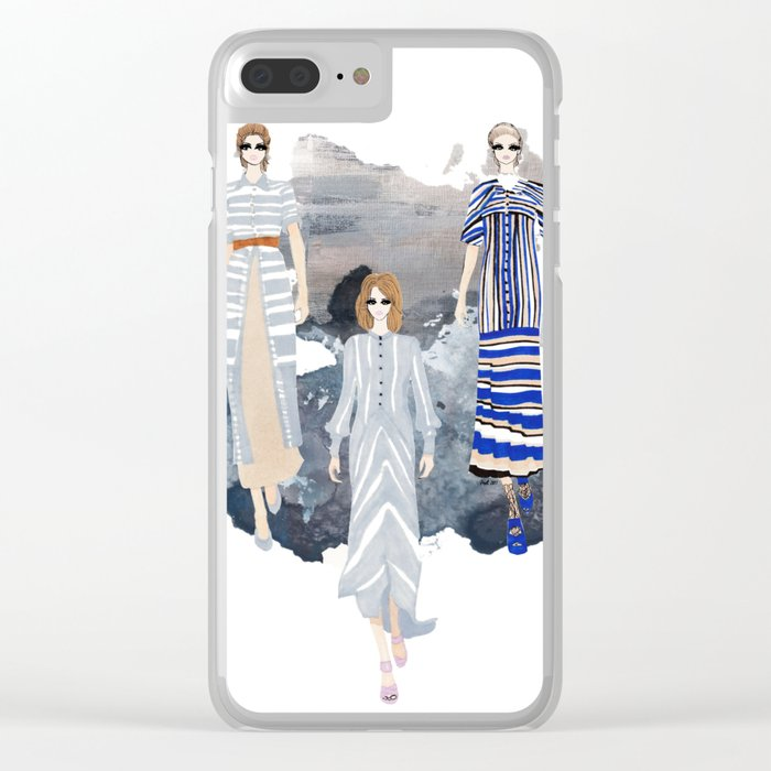 Fashionary - Blues Clear iPhone Case