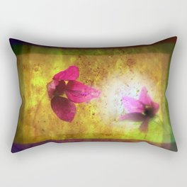 marriage of Titania; Salmon berry floral duet Shakespearean hidden pictures Rectangular Pillow
