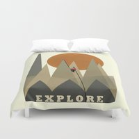 explore Duvet Covers featuring Explore by bri.buckley