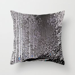 Creepy Night Throw Pillow