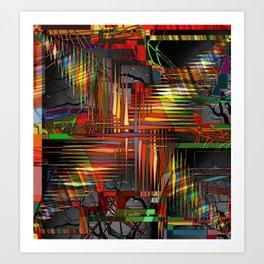 Bio-Digital Art Print