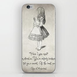 Have I Gone Mad Quote iPhone Skin