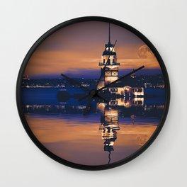 The Maiden's Tower (Turkish: Kız Kulesi) Wall Clock