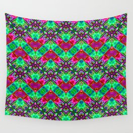 Stitched Vibrant Zigzags Wall Tapestry