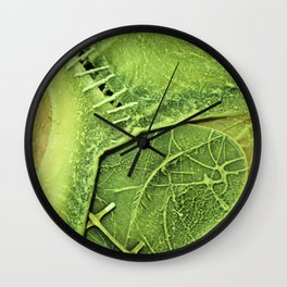Lime Green . Art of Nature Wall Clock