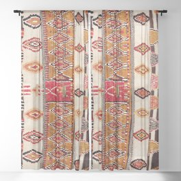 Beni Yacoub South Morocco North African Pile Rug Print Sheer Curtain