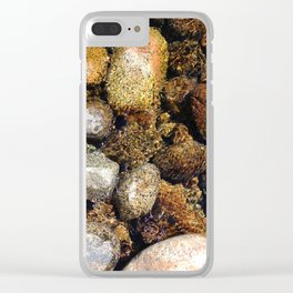 river rocks Clear iPhone Case