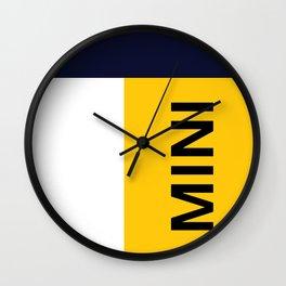 NAVY YELLOW MINI ART Wall Clock