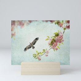 Bird and Flowering Branch Mini Art Print