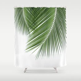 Delicate palms Shower Curtain