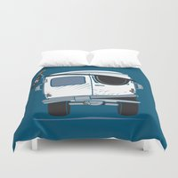 booty Duvet Covers featuring The Booty Wagon by Brandon Ortwein