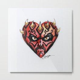 Darth Maul Star Wars Heart Metal Print