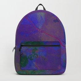 Galveston Texas Street Map Art Watercolor Purple World Backpack