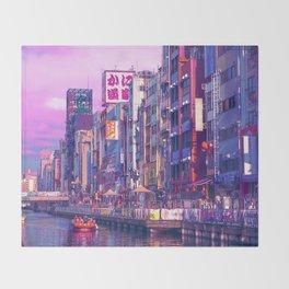 Osaka Citypop Throw Blanket