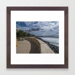 Aguadilla ocean view Framed Art Print