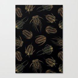 Trilobites - Marine Fossil Pattern Canvas Print