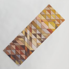 Triangle Pattern Fall Colors Yoga Mat