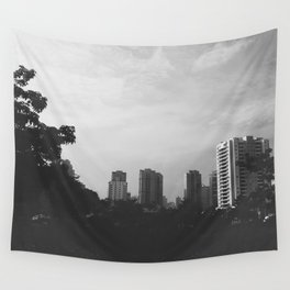 Sao Paulo Black and White Wall Tapestry