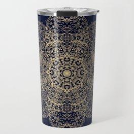 Golden star, mandala Travel Mug