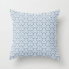 bishamon in monaco blue Throw Pillow