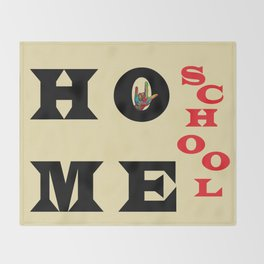 I Love Home School Throw Blanket