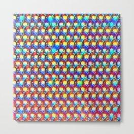 Rainbow chain mail Metal Print