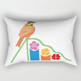 Bird on a slide Rectangular Pillow
