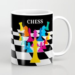 Chess on black Coffee Mug
