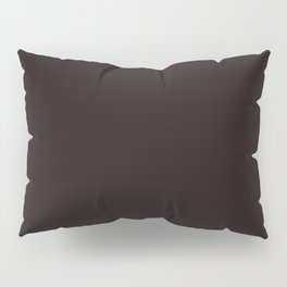 Licorice - solid color Pillow Sham
