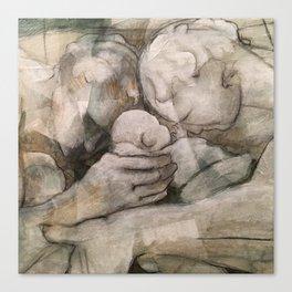 shared fatherhood II: close. Canvas Print